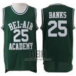 Camiseta Pelicula Bel-Air Academy Banks NO 25 Verde