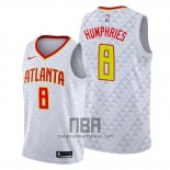 Camiseta Atlanta Hawks Isaac Humphries NO 8 Blanco Association