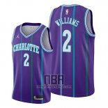 Camiseta Charlotte Hornets Marvin Williams NO 2 Classic 2019-20 Violeta
