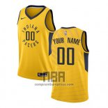 Camiseta Indiana Pacers Personalizada Statement 2017-18 Amarillo