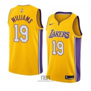Camiseta Los Angeles Lakers Johnathan Williams NO 19 Icon 2018 Oro