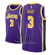 Camiseta Los Angeles Lakers Josh Hart NO 3 Statement 2018-19 Violeta