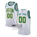 Camiseta Boston Celtics Personalizada Ciudad 2018-19 Blanco