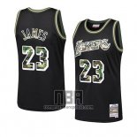 Camiseta Los Angeles Lakers Lebron James NO 23 Camuflaje Negro