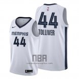 Camiseta Memphis Grizzlies Anthony Tolliver NO 44 Association 2020 Blanco