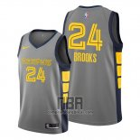 Camiseta Memphis Grizzlies Dillon Brooks NO 24 Ciudad Edition Gris