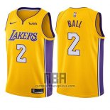 Camiseta Nino Los Angeles Lakers Lonzo Ball NO 2 Icon 2017-18 Oro