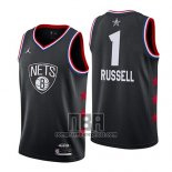 Camiseta All Star 2019 Brooklyn Nets Dangelo Russell NO 1 Negro