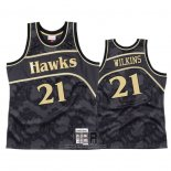 Camiseta Atlanta Hawks Dominique Wilkins NO 21 1986-87 Hardwood Classic Negro