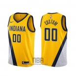 Camiseta Indiana Pacers Personalizada Statement 2019-20 Amarillo