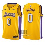 Camiseta Nino Los Angeles Lakers Kyle Kuzma NO 0 Icon 2017-18 Oro