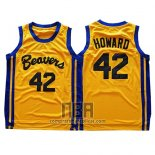 Camiseta Pelicula Beavers Dwight Howard NO 42 Amarillo