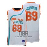 Camiseta Pelicula Flint Tropscs Vture Downtown NO 69 Blanco