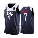 Camiseta USA Marcus Smart NO 7 2019 FIBA Basketball World Cup Azul