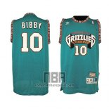 Camiseta Vancouver Grizzlies Mike Bibby NO 10 Historic Retro Verde