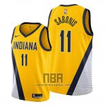 Camiseta Indiana Pacers Domantas Sabonis NO 11 Statement Edition Amarillo