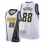 Camiseta Indiana Pacers Goga Bitadze NO 88 Earned Blanco