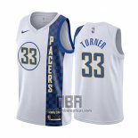 Camiseta Indiana Pacers Myles Turner NO 33 Ciudad Blanco