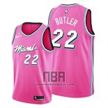 Camiseta Miami Heat Jimmy Butler NO 22 Earned 2019 Rosa