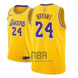 Camiseta Nino Los Angeles Lakers Kobe Bryant NO 24 Icon 2018-19 Amarillo