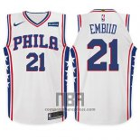 Camiseta Nino Philadelphia 76ers Joel Embiid NO 21 Association 2017 18 Blanco