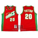Camiseta Seattle SuperSonics Gary Payton NO 20 Historic Retro Rojo2