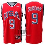 Camiseta USA 1984 Michael Jordan NO 9 Rojo