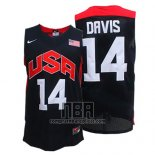 Camiseta USA 2012 Anthony Davis NO 14 Negro