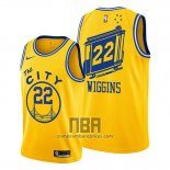 Camiseta Golden State Warriors Andrew Wiggins NO 22 Classic 2019-20 Amarillo