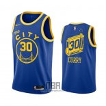 Camiseta Golden State Warriors Stephen Curry NO 30 Hardwood Classics 2020-21 Azul