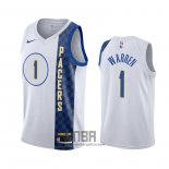 Camiseta Indiana Pacers T.j. Warren NO 1 Ciudad Blanco