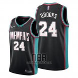 Camiseta Memphis Grizzlies Dillon Brooks NO 24 Classic 20th Season Negro