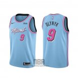 Camiseta Miami Heat Kelly Olynyk NO 9 Ciudad 2019-20 Azul
