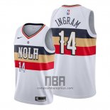 Camiseta New Orleans Pelicans Brandon Ingram NO 14 Earned Blanco