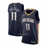 Camiseta New Orleans Pelicans Jrue Holiday NO 11 Icon 2020-21 Azul