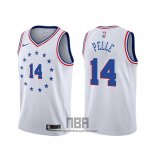 Camiseta Philadelphia 76ers Norvel Pelle NO 14 Earned 2019-20 Blanco