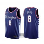 Camiseta Philadelphia 76ers Zhaire Smith NO 8 Ciudad 2019-20 Azul