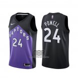 Camiseta Toronto Raptors Norman Powell NO 24 Earned 2020-21 Negro Violeta