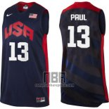 Camiseta USA 2012 Chris Paul NO 13 Negro