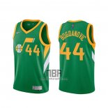 Camiseta Utah Jazz Bojan Bogdanovic NO 44 Earned 2020-21 Verde