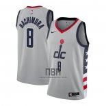 Camiseta Washington Wizards Rui Hachimura NO 8 Ciudad 2020-21 Gris