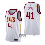 Camiseta Cleveland Cavaliers Ante Zizic NO 41 Association Blanco