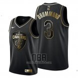 Camiseta Golden Edition Cleveland Cavaliers Andre Drummond NO 3 2019-20 Negro