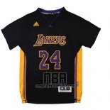 Camiseta Manga Corta Los Angeles Lakers Kobe Bryant NO 24 Negro