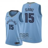 Camiseta Memphis Grizzlies Brandon Clarke NO 15 Statement Azul