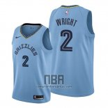 Camiseta Memphis Grizzlies Delon Wright NO 2 Statement Azul