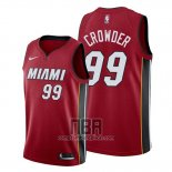 Camiseta Miami Heat Jae Crowder NO 99 Statement 2019-20 Rojo