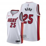 Camiseta Miami Heat Kendrick Nunn NO 25 Association 2019-20 Blanco