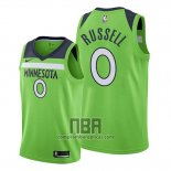 Camiseta Minnesota Timberwolves D'angelo Russell NO 0 Statement 2019-20 Verde