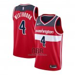 Camiseta Washington Wizards Russell Westbrook NO 4 Icon 2020-21 Rojo